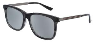 Gucci GG0078SK Grey with Silver Mirror Lenses