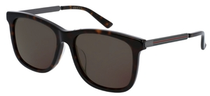 Gucci GG0078SK Tortoise with Grey Lenses