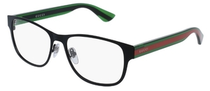 Gucci GG0007O Black with Green/Red Temples