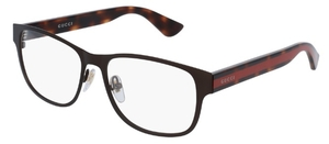 Gucci GG0007O Brown with Havana/Red Temples