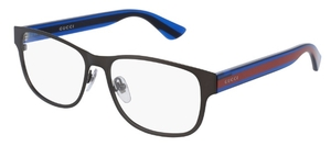 Gucci GG0007O Ruthenium with Blue/Red Temples
