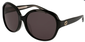 Gucci GG0080SK Black with Grey Lenses