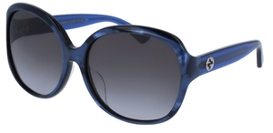 Gucci GG0080SK Blue with Grey Gradient Lenses