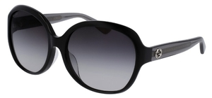 Gucci GG0080SK Black with Grey Gradient Lenses