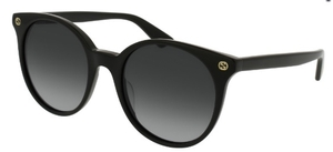 Gucci GG0091S Black with Gradient Grey Lenses