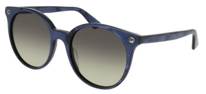 Gucci GG0091S Blue with Brown Gradient Lenses