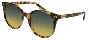 Gucci GG0091S Japanese Tortoise with Gradient Grey/Yellow Lenses