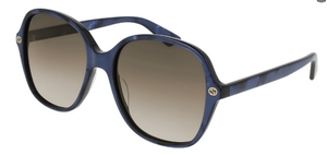 Gucci GG0092S Blue with Brown Gradient Lenses