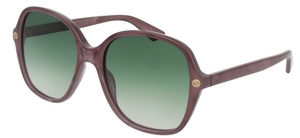 Gucci GG0092S Purple with Green Gradient Lenses