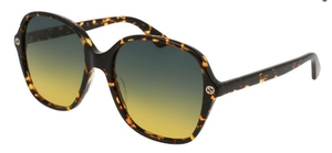 Gucci GG0092S Tokyo Tortoise with Grey/Yellow Gradient Lenses