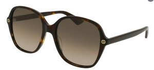Gucci GG0092S Tortoise with Brown Gradient Lenses