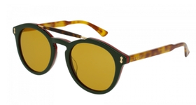 Gucci GG0124S Green/Havana with Brown Lens