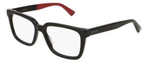 Gucci GG0160O Black with Red Temples