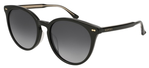 Gucci GG0195SK Black with Grey Gradient Lenses