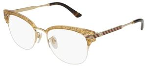 Gucci GG0201O Gold/Gold