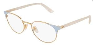 Gucci GG0247O Gold/Blue/White
