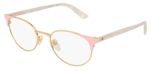 Gucci GG0247O Gold/Pink/White