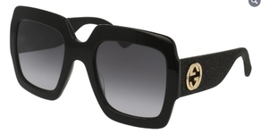 Gucci GG0102S Black with Grey Gradient Lenses