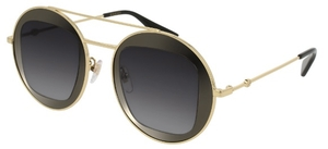 Gucci GG0105S Gold with Grey Gradient Lenses