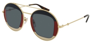 Gucci GG0105S Gold with Grey Lenses