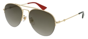 Gucci GG0107S Gold with Brown Gradient Lenses