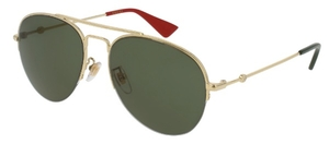 Gucci GG0107S Gold with Green Lenses