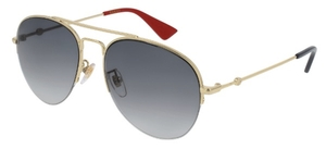 Gucci GG0107S Gold with Grey Gradient Lenses