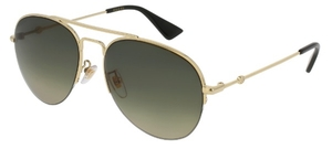 Gucci GG0107S Gold with Polarized Brown Gradient Lenses