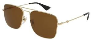 Gucci GG0108S Gold with Brown Lenses