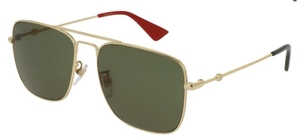 Gucci GG0108S Gold with Green Lenses