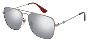 Gucci GG0108S Silver with Silver Mirror Lenses