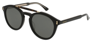Gucci GG0124S Black with Grey Lenses