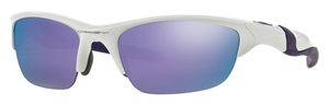 Oakley Half Jacket 2.0 OO9144 08 Pearl with Violet Iridium Lenses