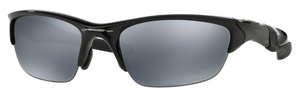 Oakley Half Jacket 2.0 OO9144 Polished Black with Polarized Black Iridium Lenses