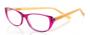 Eyebobs Hanky Panky Magenta Crystal Front with Orange Temples