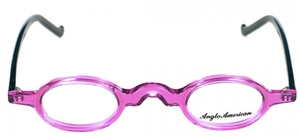 Anglo American Harpo Transparent Purple with Black Temples TR22/BLK
