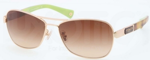 Coach HC7012 L038 CAROLINE Gold/Tortoise with Brown Gradient Lenses