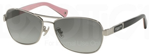 Coach HC7012 L038 CAROLINE Silver/Black with Grey Gradient Lenses