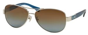 Coach HC7047  L103 CHRISTINA Silver/Blue with Brown Blue Polarized Lenses