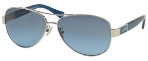 Coach HC7047  L103 CHRISTINA Silver/Blue with Grey Blue Gradient Lenses