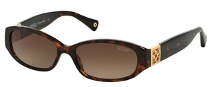 Coach HC8012 HOPE Tortoise with Brown Gradient Lenses