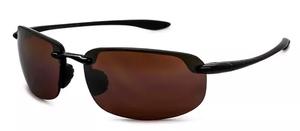 Maui Jim Ho'okipa 407 Gloss Black with HCL Bronze lenses H407-2