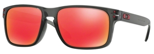 Oakley Holbrook (Asian Fit) OO9244 04 Grey Smoke with Ruby Iridium Lenses