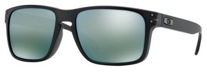 Oakley Holbrook (Asian Fit) OO9244 07 Matte Black Ink with Emerald Iridium Lenses