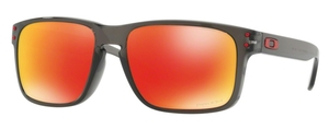 Oakley Holbrook (Asian Fit) OO9244 28 Grey Smoke with Prizm Ruby Lenses