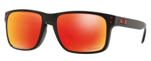 Oakley Holbrook (Asian Fit) OO9244 31 Polished Black with Prizm Ruby Lenses