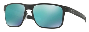Oakley HOLBROOK METAL OO4123 04 Matte Black with Jade Iridium Lenses