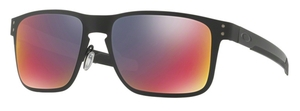 Oakley HOLBROOK METAL OO4123 02 Matte Black with +Red Iridium Lenses