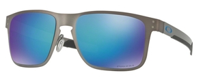 Oakley HOLBROOK METAL OO4123 07 Matte Gunmetal with Polarized Prizm Sapphire Lenses