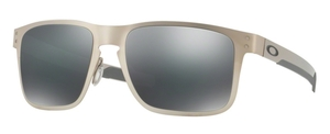 Oakley HOLBROOK METAL OO4123 03 Satin Chrome with Black Iridium Lenses